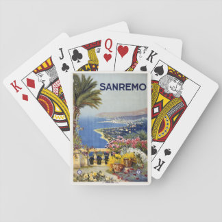 Vintage Sanremo Italy playing cards