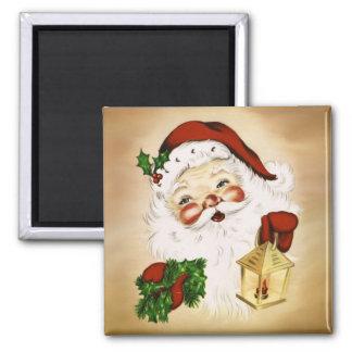 Vintage Santa 2 Square Magnet