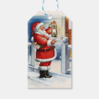 Vintage Santa 3 Gift Tags