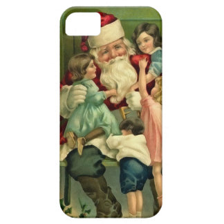 Vintage Santa and Children Phone Case