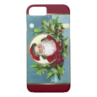 Vintage Santa and Holly Christmas iPhone 8/7 Case