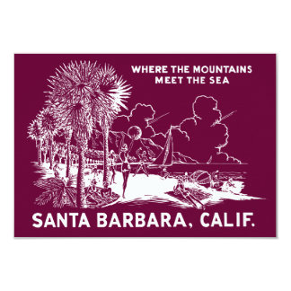 Vintage Santa Barabara California Card