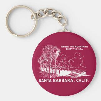 Vintage Santa Barabara California Key Chain