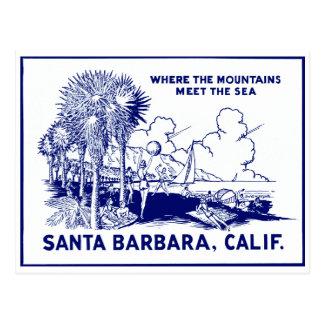 Vintage Santa Barabara California Post Card