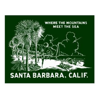 Vintage Santa Barabara California Post Cards