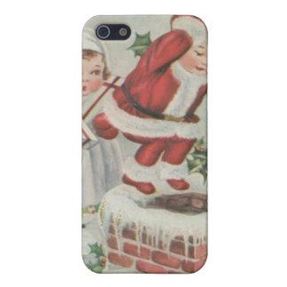 Vintage Santa Children Cover For iPhone 5