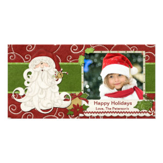 Vintage Santa Christmas Card Photo Card