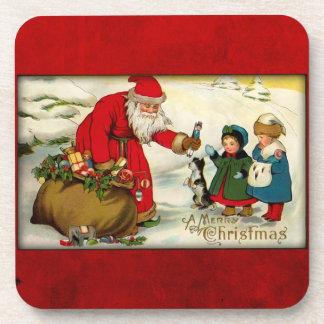 Vintage Santa Christmas Coasters