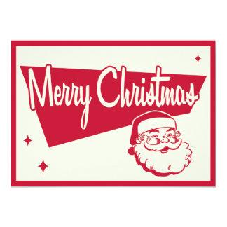 Vintage Santa Christmas Party Invitation