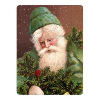 Vintage Santa Claus 10 17 Cm X 22 Cm Invitation Card