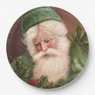 Vintage Santa Claus 10 9 Inch Paper Plate