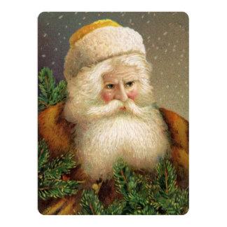 Vintage Santa Claus 11 17 Cm X 22 Cm Invitation Card