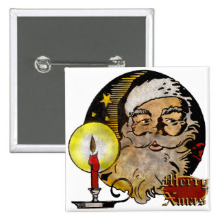 Vintage Santa Claus 15 Cm Square Badge