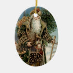 Vintage Santa Claus 3 Christmas Ornament