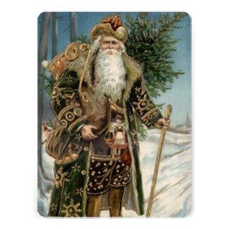 Vintage Santa Claus 3 Personalized Invitations