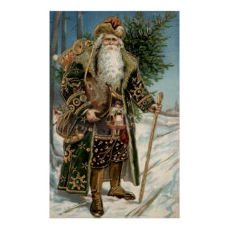 Vintage Santa Claus 3 Poster