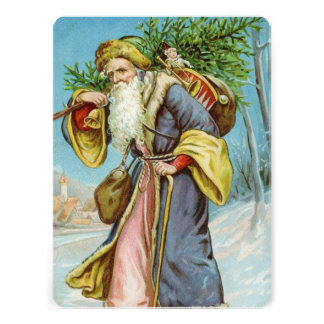 Vintage Santa Claus 4 Personalized Invitations