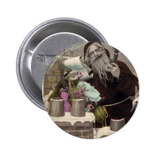 Vintage Santa Claus 6 Cm Round Badge