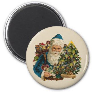 Vintage Santa Claus 6 Cm Round Magnet