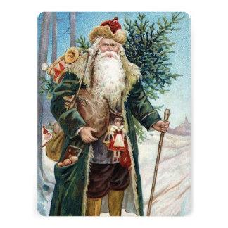 Vintage Santa Claus 6 Personalized Invitations