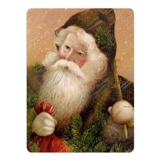 Vintage Santa Claus 8 17 Cm X 22 Cm Invitation Card