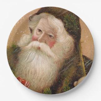 Vintage Santa Claus 8 9 Inch Paper Plate