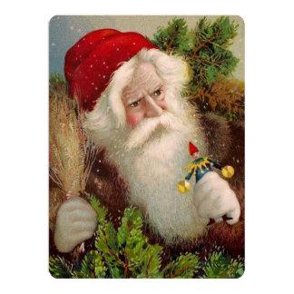 Vintage Santa Claus 9 17 Cm X 22 Cm Invitation Card