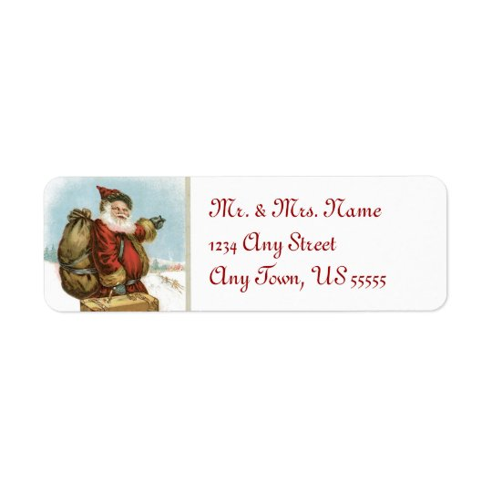 Vintage Santa Claus Address Labels