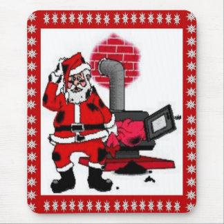 Vintage Santa Claus and a Coal Stove Burner Mouse Pad