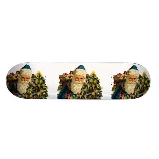 Vintage Santa Claus Bearing Gifts For Everyone Skate Board Deck