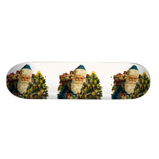 Vintage Santa Claus Bearing Gifts For Everyone Skateboard Decks
