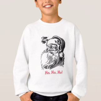 Vintage Santa Claus Black White Red Christmas Sweatshirt