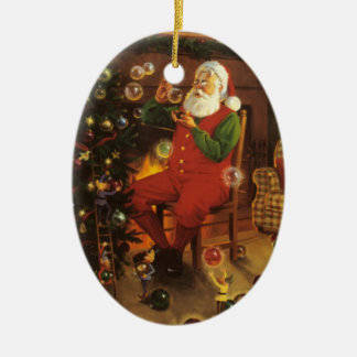 Vintage Santa Claus Blowing Bubbles Ornament