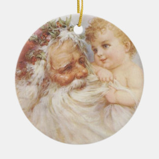 Vintage Santa Claus by Raphael Tuck Ornament