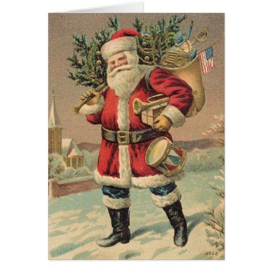 Vintage Santa Claus Card