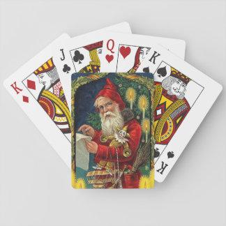 Vintage Santa Claus Checking List Poker Deck