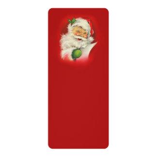 Vintage Santa Claus Christmas 10 Cm X 24 Cm Invitation Card