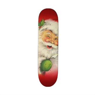 Vintage Santa Claus Christmas 21.6 Cm Old School Skateboard Deck