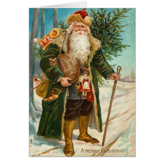 Vintage Santa Claus Christmas Card