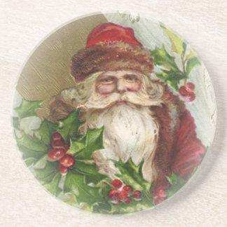Vintage Santa Claus Christmas Coasters