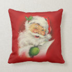 Vintage Santa Claus Christmas Cushion