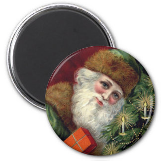 Vintage Santa Claus Christmas Fridge Magnet