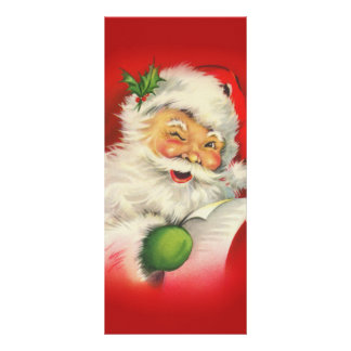 Vintage Santa Claus Christmas Full Color Rack Card