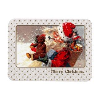 Vintage Santa Claus Christmas Gift Magnet