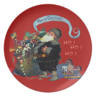 VINTAGE SANTA CLAUS CHRISTMAS ILLUSTRATION PLATE