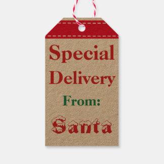 Vintage Santa Claus Christmas Kids Gift Tags