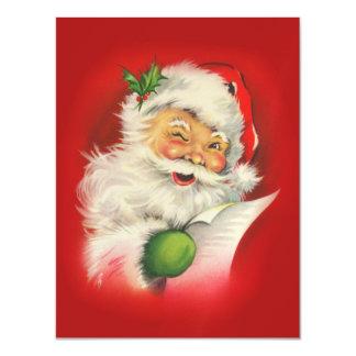 Vintage Santa Claus Christmas Magnetic Invitations