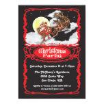 Vintage Santa Claus Christmas Party Invitaions 13 Cm X 18 Cm Invitation Card