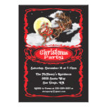 Vintage Santa Claus Christmas Party Invitaions Personalized Invitations