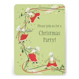 Vintage Santa Claus Christmas Party Announcements
